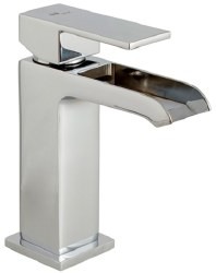 MZ Single Lever Open Spout Waterfall Faucet in Chrome