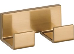 VERO, Double Robe Hook, in Champagne Bronze