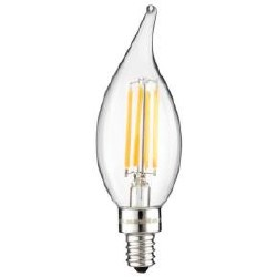 LED Vintage Chandelier 4W Light Bulb Candelabra (E12) Base, Warm White