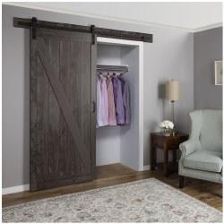 Barn Door, 36 in W Door, 84 in H Door, 1-3/8 in Thick Door, Iron Age Door, BD053W01IA1IAE360