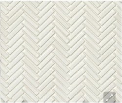 "90 Degree Herringbone White Porcelain Mosaic on 11X12.25"" Sheet, DEC90WHI122MO"