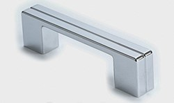 """Cabinet Pull 4.125"""" with 3"""" C2C in Polished Chrome, 1 pc."""