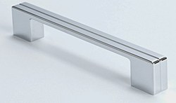 """Cabinet Pull 6.625"""" with 6.25"""" C2C in Polished Chrome, 1 pc."""