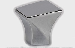 "Cabinet Knob 1-3/16"" Square in Polished Chrome"