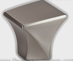 "Cabinet Knob 1-3/16"" Square in Brushed Nickel"