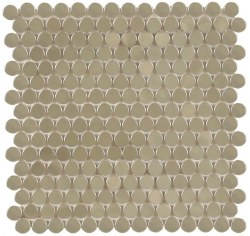 "Perth Penny Rounds, Stainless Steel Polished 3/4"", per sheet"
