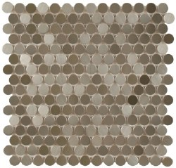 "Perth Penny Rounds, Stainless Steel Stippled 3/4"", per sheet"