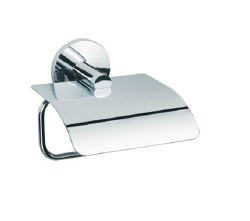 Baño Diseño Cloe Paper Holder with Cover in Chrome