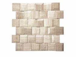 "Adamant White Wood Mosaic on 11.6X11.65"" Sheet"
