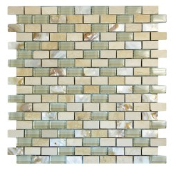 Agata Mix Shell Beige Mosaic on 11.3X11.8 Sheet