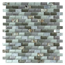 Agata Mix Shell Grey Mosaic on 11.3X11.8 Sheet