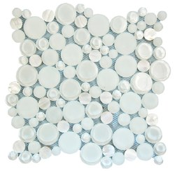 Agata Circle Shell White Mosaic on 12.2X12.2 Sheet