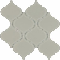 "Arabesque Beige Frosted Glass Mosaic on 10X10.5"" Sheet"