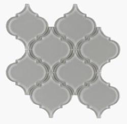 "Arabesque Grey Shining Glass Mosaic on 10X10.5"" Sheet"