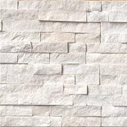 Arctic White Quartzite Split Face Ledger Stone, per s/f