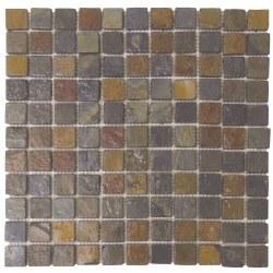 "Rust Mosaic Slate 1X1"" on 12X12"" Sheet"