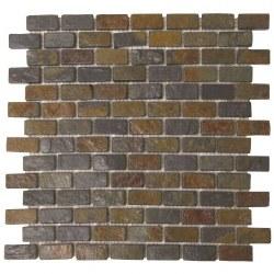 "Rust Brick Slate 3/4X1"" on 12X12"" Sheet"