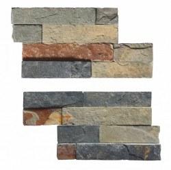 "Rust Slate Angle Piece Wall Cladding 4X14"", per pc"