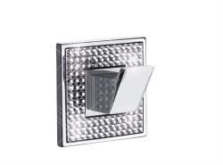 Diamond Hook in Polished Chrome with Swarovski