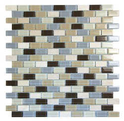 Basic Cross Beige Glass and Stone Mosaic on 11.3X11.8 Sheet