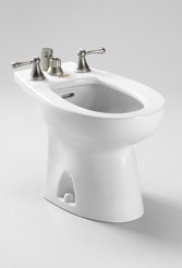 Toto Piedmont Vertical Spray Bidet in Bone