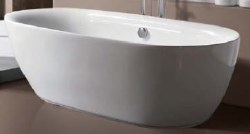 "Mozart Acrylic Freestanding Tub 70.87""X33.07""X26"", in White"