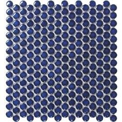CC Cobalt Blue Penny Round Mosaics on 12X12 Sheet, UFCC110-12M