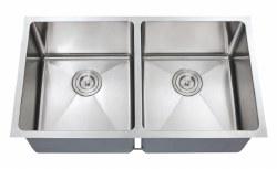 "Chef Series 32X18"" Double Equal Bowl Undermount 16 gauge Kitchen Sink"
