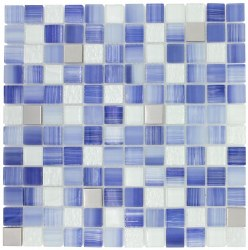 Directions XHT305 Infinite Blue Mosaic on 12x12 Sheet