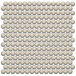 CC BG Cream Penny Round Mosaics on 12X12 Sheet, UFCC126-12M