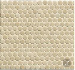 """360 Beige Matte Penny Round Mosaics 3/4"""" on 12X12 Sheet, DEC360BEI34M"""