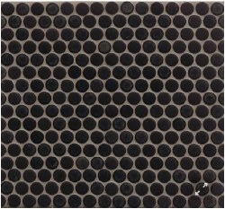 "360 Charcoal Matte Penny Round Mosaics 3/4"" on 12X12 Sheet, DEC360CHA34M"
