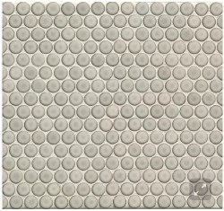 "360 Dove Grey Penny Round Mosaics 3/4"" on 12X12 Sheet, DEC360DOG34G"