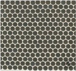 "360 Iron Matte Penny Round Mosaics 3/4"" on 12X12 Sheet, DEC360IRO34M"