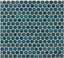 "360 Lagoon Penny Round Mosaics 3/4"" on 12X12 Sheet, DEC360LAG34G"