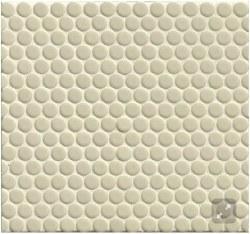 "360 Off White Penny Round Mosaics 3/4"" on 12X12 Sheet, DEC360OFW34G"