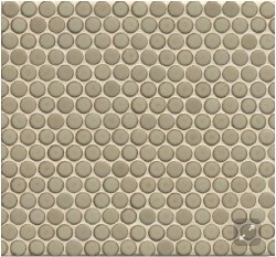 "360 Pumice Matte Penny Round Mosaics 3/4"" on 12X12 Sheet, DEC360PUM34M"