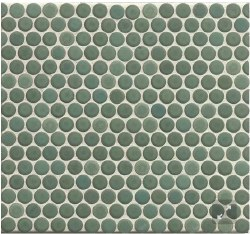 "360 Silver Sage Matte Penny Round Mosaics 3/4"" on 12X12 Sheet, DEC360SIS34M"