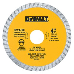 "Dewalt 4"" Dry Cut Diamond Tile Cutting Blade"