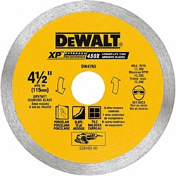 "Dewalt 4-1/2"" Porcelain Tile Cutting Blade"