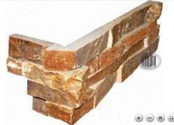 Golden White Quartzite L Corner Split Face Ledger Stone, per s/f