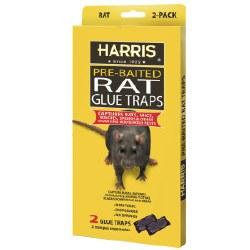Pre-Baited Rat Glue Traps, 2-pack, HRG-2