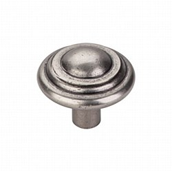 "Aspen Button Knob 1-3/4"" in Silicon Bronze Light"