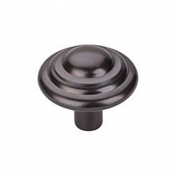 "Aspen Button Knob 1-3/4"" in Medium Bronze"