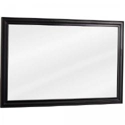 "Douglas Black 42X28"" Mirror with beveled edge"
