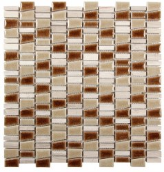 "Mirada K Mix Beige Mosaic on 11.7 X 12.5"" Sheet"