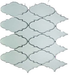"Simpson Desert Glass Alabastro Matte 5-1/2x3"" Trellis on 13""X11-1/4"" Sheet"