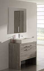 "Montreal 32"" Vanity in Oak Jospin with Polo Square Sink"