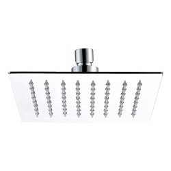 "Re-Vive, 6"" Square Shower Head in Brushed Nickel"