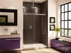 Novara In-line 60 Shower Door with Clear Glass and Chrome Trim
